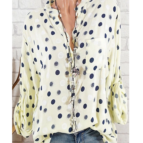 Polka Dot Autumn Blouse