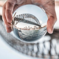 Lensball with Sydney Harbor Bridge Inside It