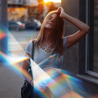 Lady with Prism Effect