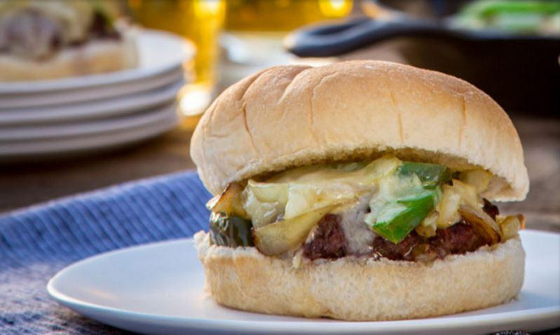 Burger Week Recipe #2 - Philly Cheesesteak Smothered Burgers