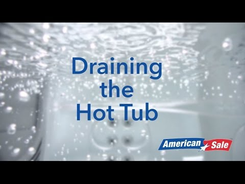 How to Winterize Your Hot Tub- Step 2- Draining the Hot Tub