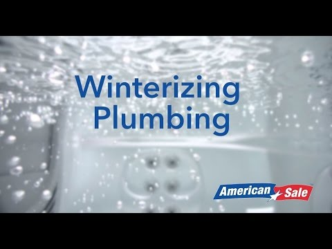 How to Winterize Your Hot Tub- Step 4- Winterizing the Plumbing