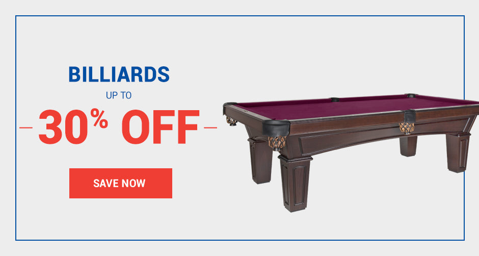 Billiards starting at $1399!