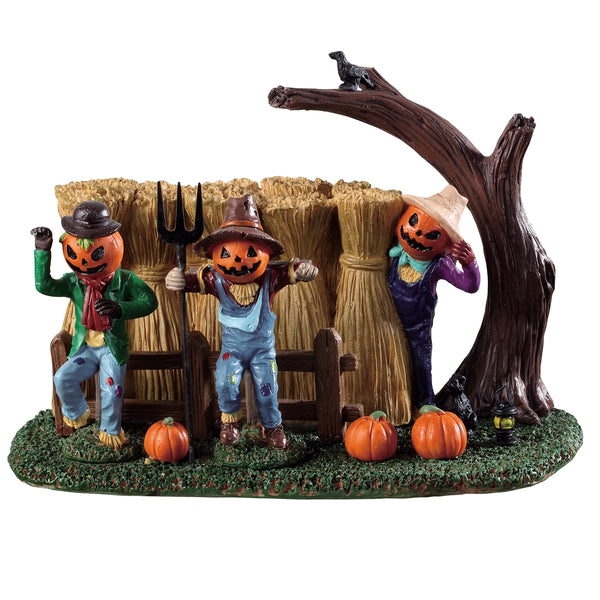 New 2019 Lemax Spooky Town Sinister Scarecrows 93417