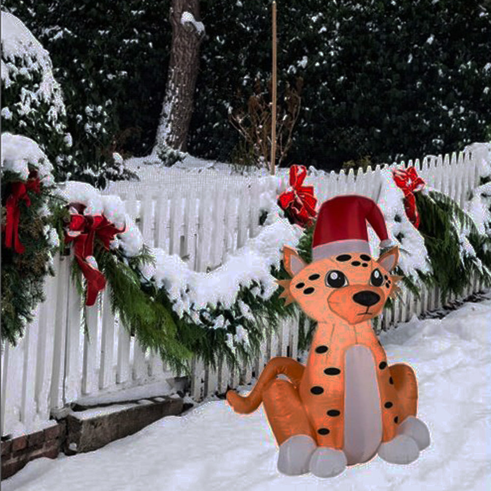 3.5u0027 Airblown® Inflatable Holiday Cheetah By Gemmy