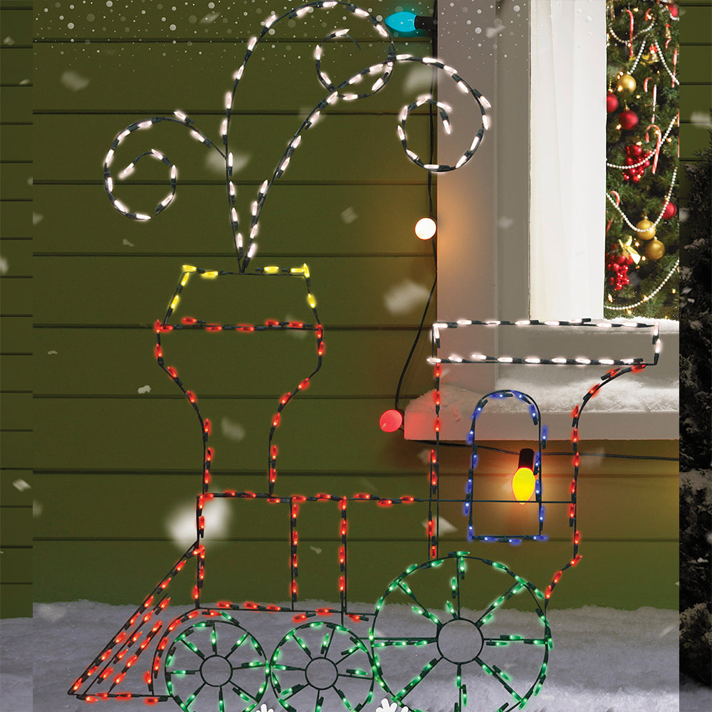 60 pro line animotion toy train led lighted christmas decoration - Lighted Train Christmas Decoration