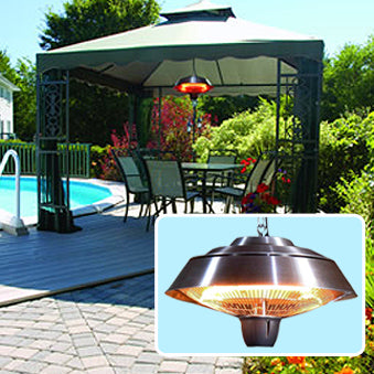 Hanging Infrared Electric Patio Heater By EnerG+