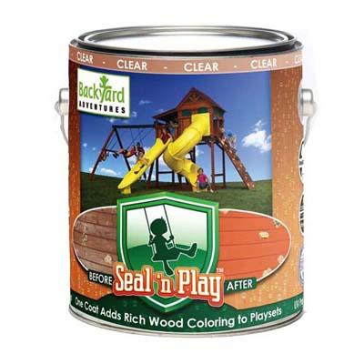 Backyard - Seal N' Play Wooden Playset Clear Acrylic Coating