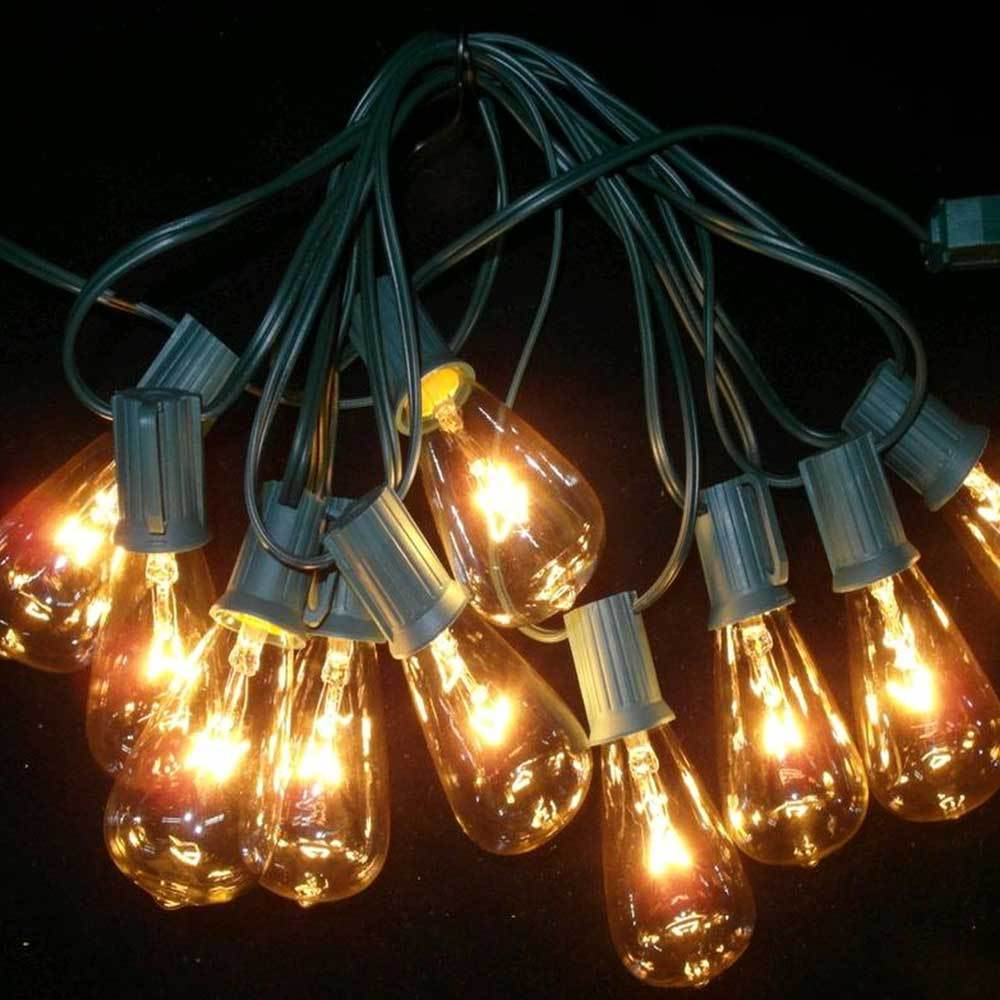10 edison style clear christmas lights