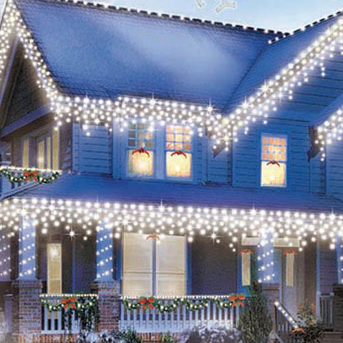 Icicle Christmas Lights.300 Indoor Outdoor Clear Icicle Lights