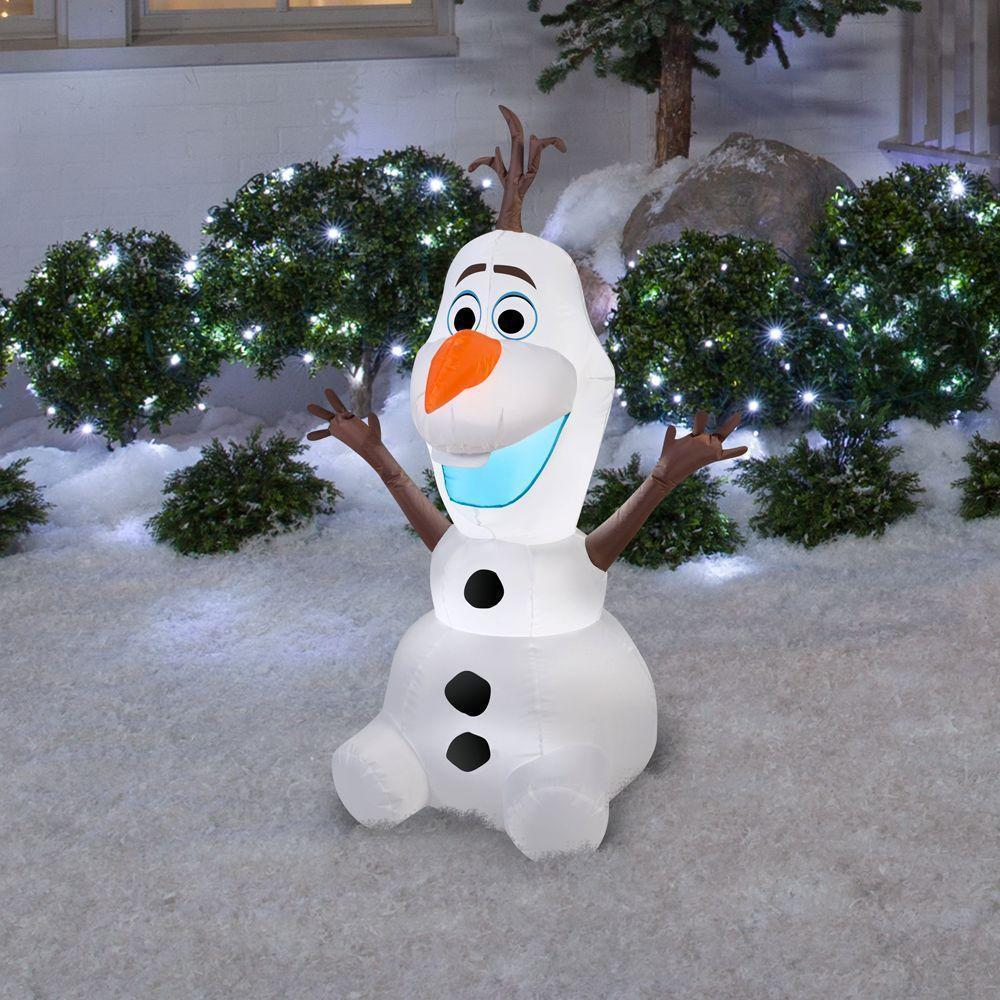 4\' Airblown® Inflatable Frozen Olaf by Gemmy 39842