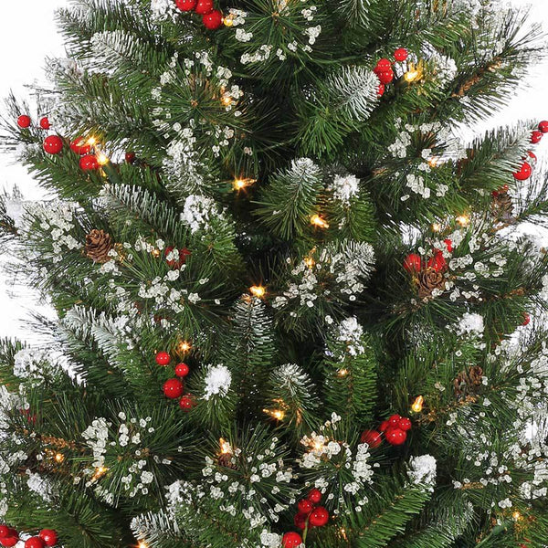 Potted Christmas Trees For Sale: 4' Windsor Glazier Pine Pre-Lit Potted Artificial