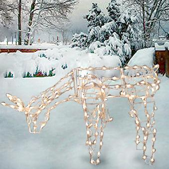 "Christmas - 48"" Animated Feeding Doe Lighted Sculpture"