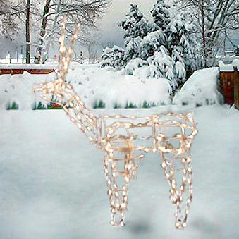 "Christmas - 48"" Animated Standing Buck Lighted Sculpture"