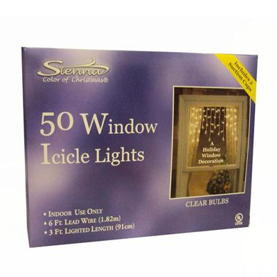 50 window icicle christmas lights