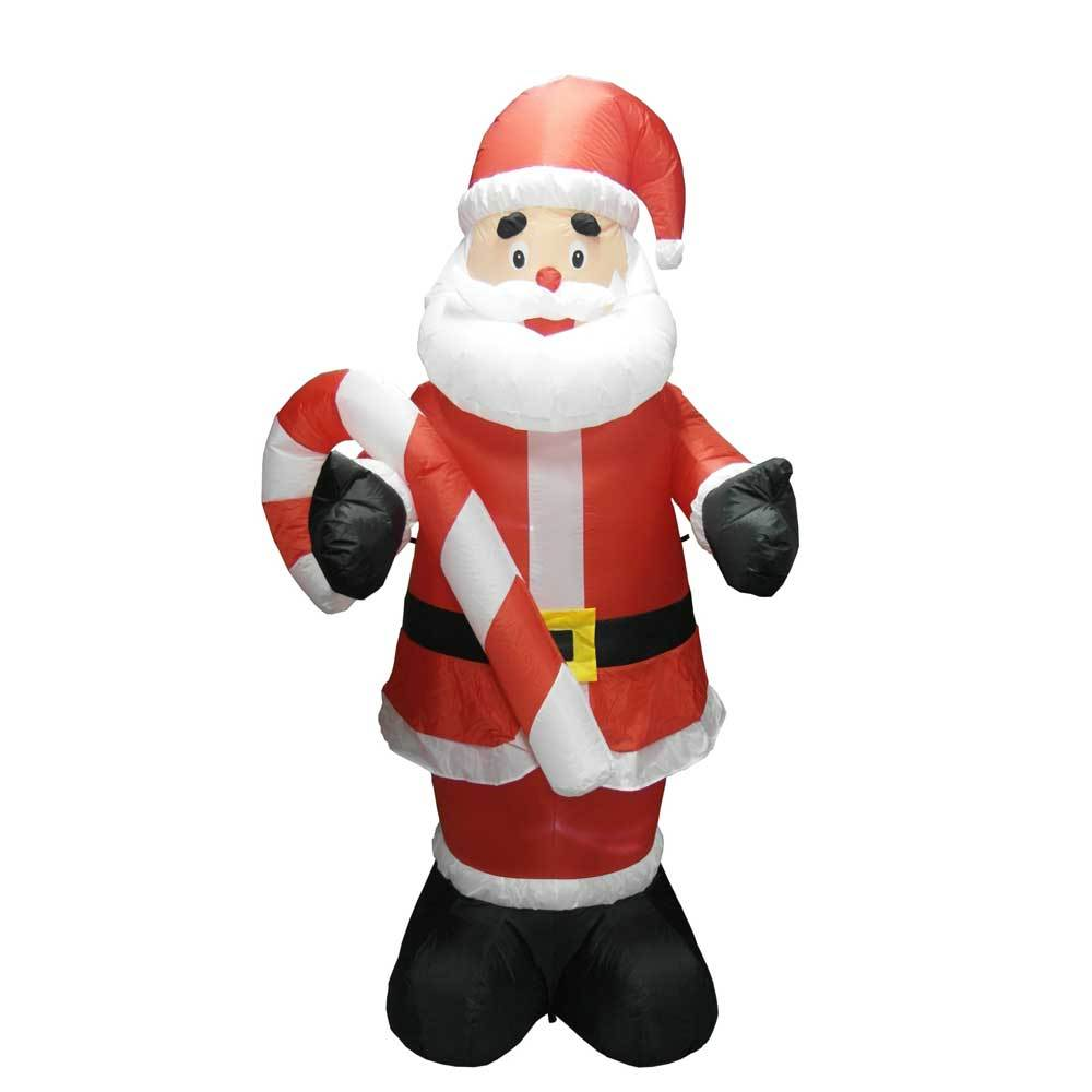 8\' Air Inflatable Santa Holding Candy Cane
