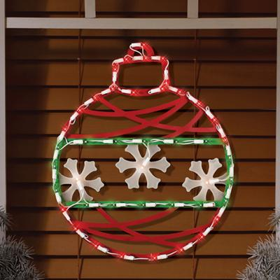 Christmas - Illuminated Ornament Window Silhouette