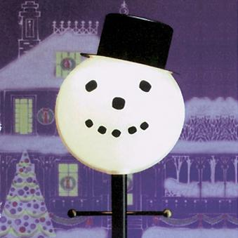 Christmas - Lamplighters Snowman Outdoor Lamp Post Globe
