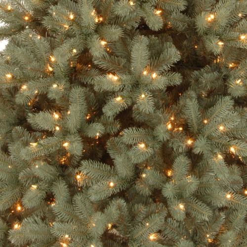 Maine Blue Spruce Feel Real Dual LED Pre-Lit Artificial ...