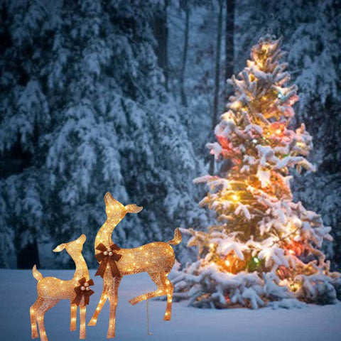 Outdoor Christmas Reindeer Decorations Lighted  from cdn.shopify.com