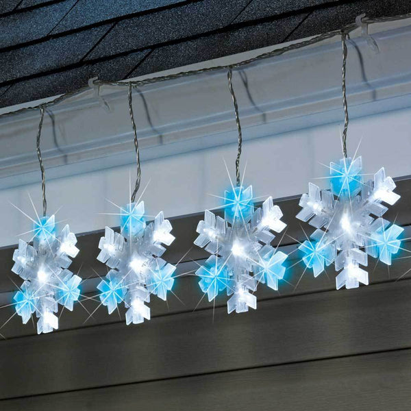 Sylvania 10 Piece Led Cool White Blue Twinkling Snowflake