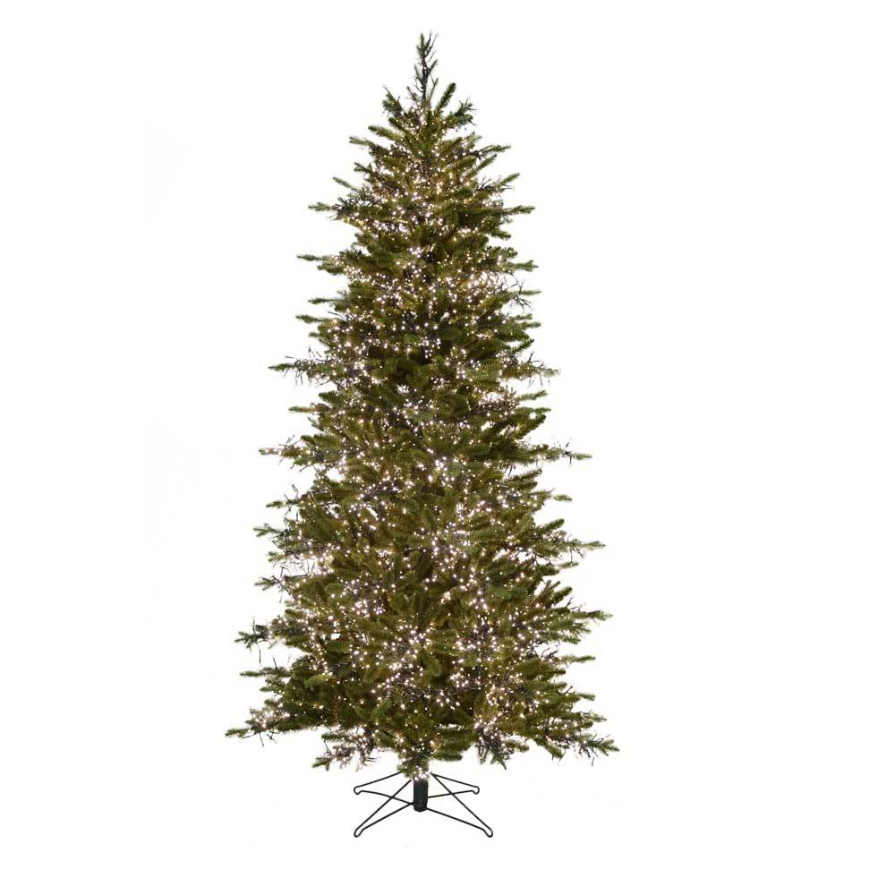 carolina fir led cluster light pre lit artificial christmas tree - Pre Lit Christmas Trees Clearance