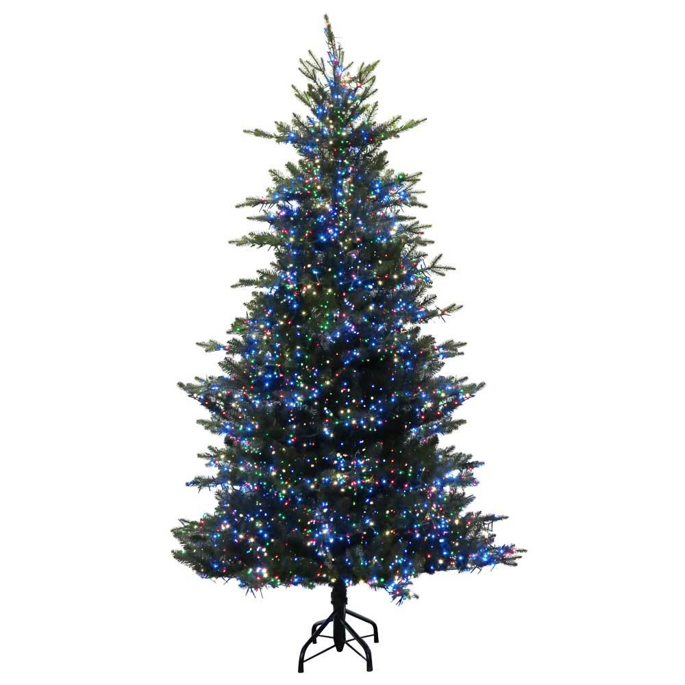carolina fir led cluster light pre lit artificial christmas tree - Pre Lit Artificial Christmas Trees Sale
