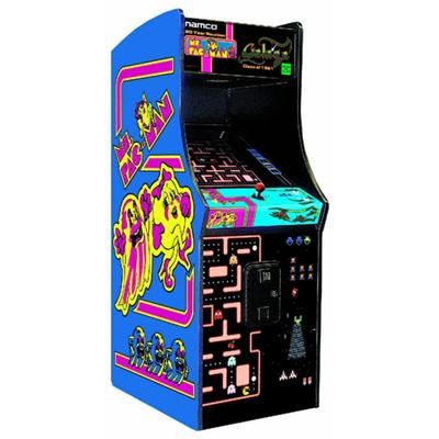 Game Room - Ms. Pac-Man / Galaga Arcade Cabinet By Chicago Gaming Company