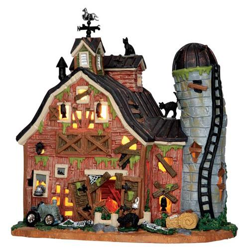 Lemax Spooky Town Dilapidated Barn 55916 Fun Halloween