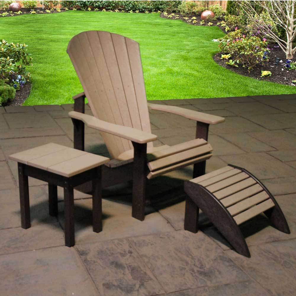 Resin Two Toned Adirondack Chair By C.R. Plastics