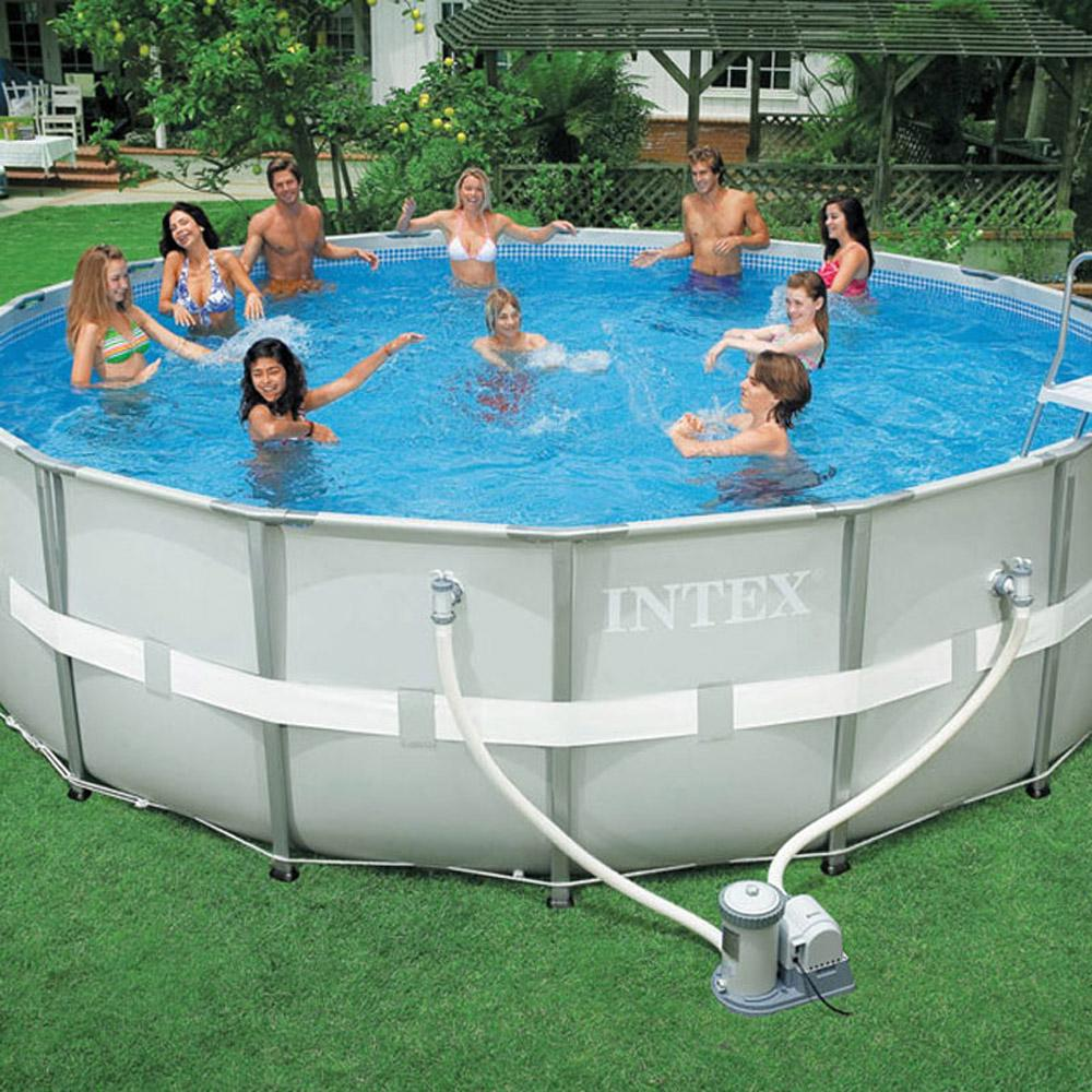 Intex 18 X 52 Round Ultra Frame Pool | Allframes5.org