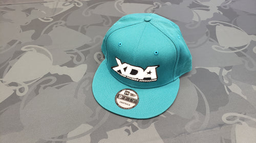 TEAL New Era 9FIFTY Snapback Hat with WHITE XDA Logo