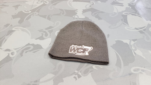 BLACK Port & Company Beanie with WHITE WCF Logo