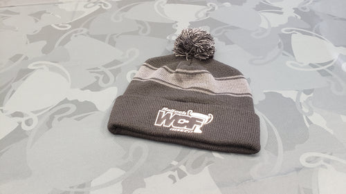 BLACK Sport-Tek Beanie with WHITE WCF Logo