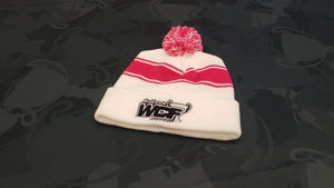 WHITE Sport-Tek Beanie with BLACK WCF Logo