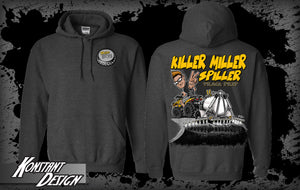 DARK HEATHER Gildan Heavy Blend Killer Miller Spiller Hoodie