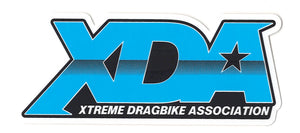 "Xtreme Dragbike Association Decal (4.75"" x 2"") BLUE"