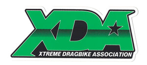 "Xtreme Dragbike Association Decal (4.75"" x 2"") GREEN"