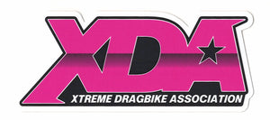 "Xtreme Dragbike Association Decal (4.75"" x 2"") PINK"