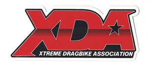 "Xtreme Dragbike Association Decal (4.75"" x 2"") RED"