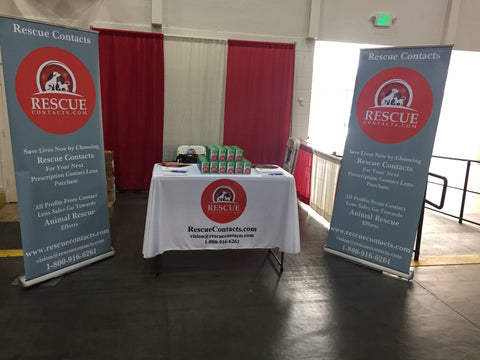Rescue Contacts' stand at the Bay Area Pet Fair in 2017