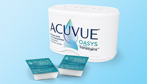 Acuvue Oasys 2 week contact lenses with Transitions