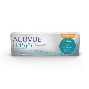 Acuvue Oasys 1-Day with HydraLuxe for Astigmatism 30 Pack