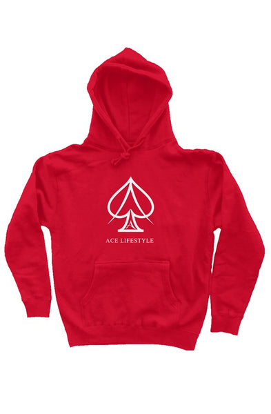 Ace Branded Hoodie - Red/White