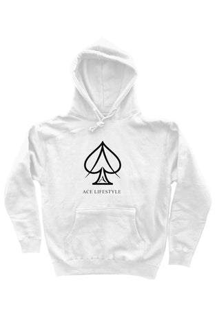 Ace Branded Hoodie - White/Black
