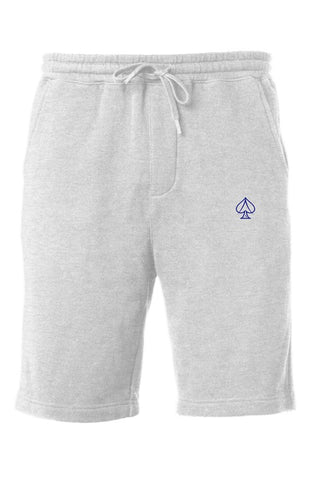 Ace Fleece Shorts - Gray/Navy