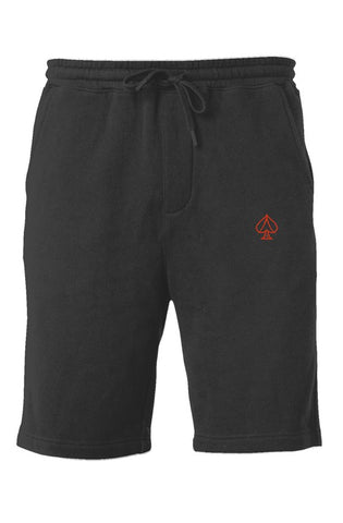 Ace Fleece Shorts - Black/Red