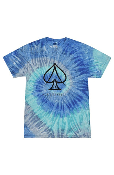 Ace Blue Waves Tie Dye Tee