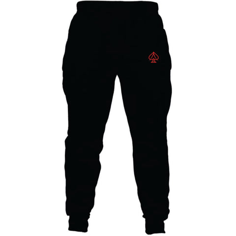 Black and Red Joggers
