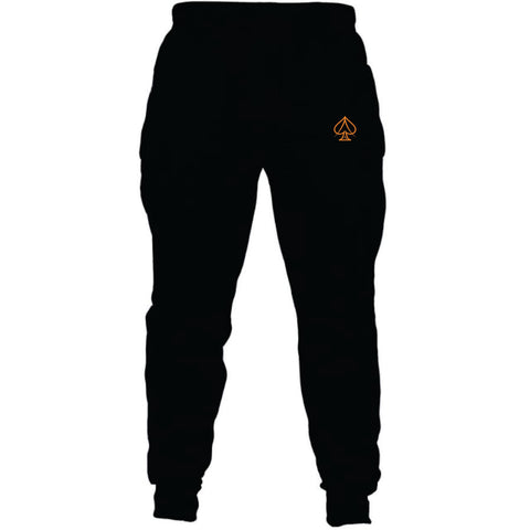 Black and Orange Joggers